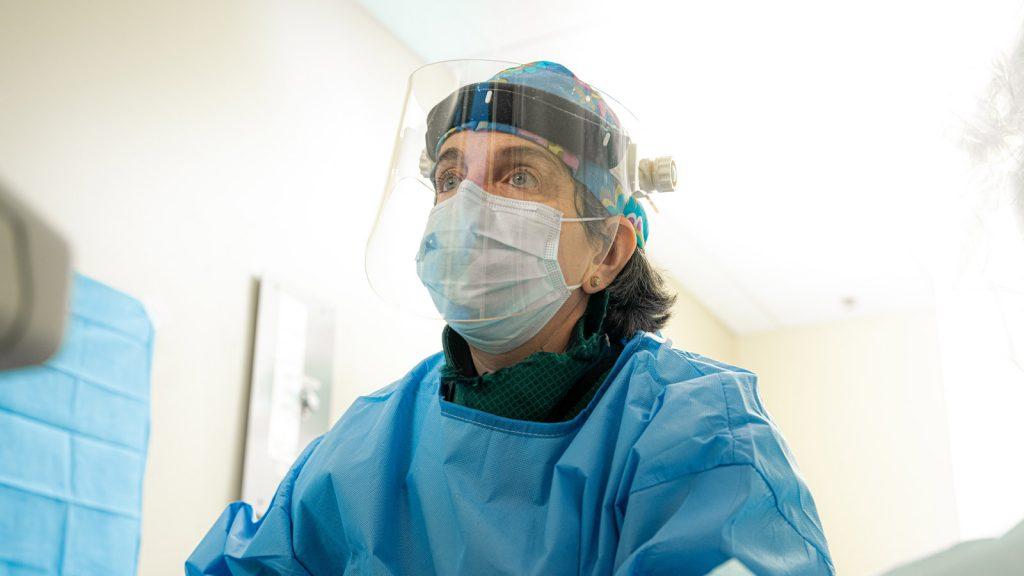 Dr. Suzanne Slonim in UFE procedure