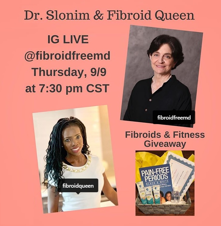 Fibroids and fitness Instagram